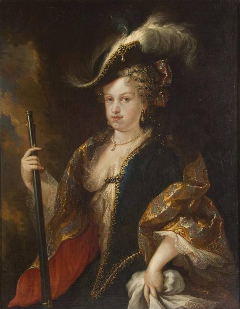 Retrato de la reina María Luisa Gabriela de Saboya.