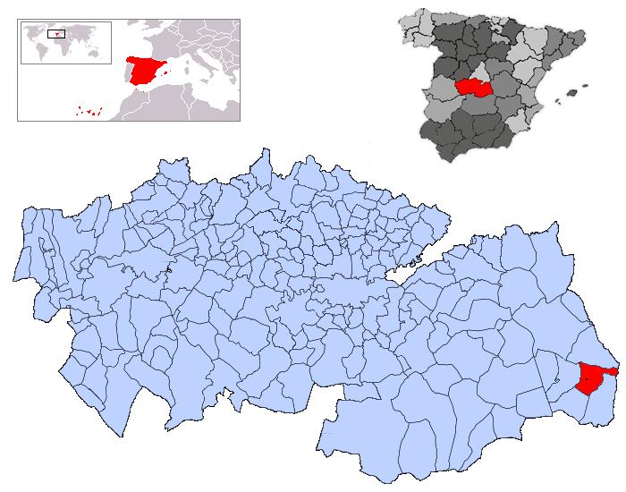 Resultado de imagen de Quintanar de la orden mapa
