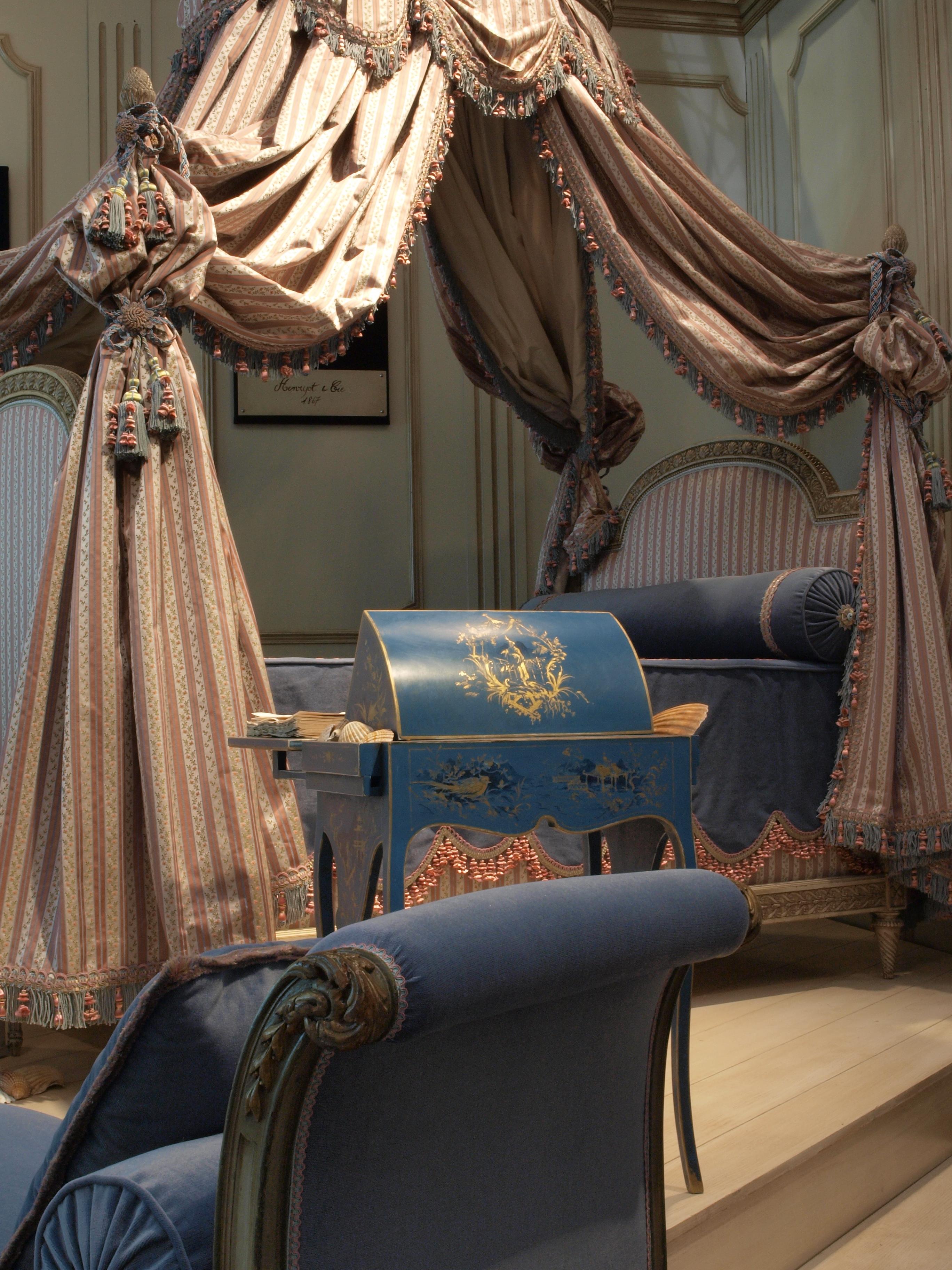 File r dition du lit pour la chambre des bains de louis - Chambre toile de jouy ...