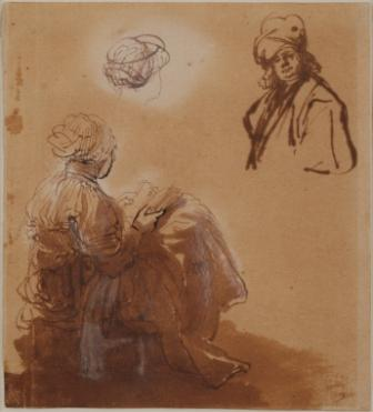 Rembrandt Studies of a Woman Reading and an Oriental.jpg