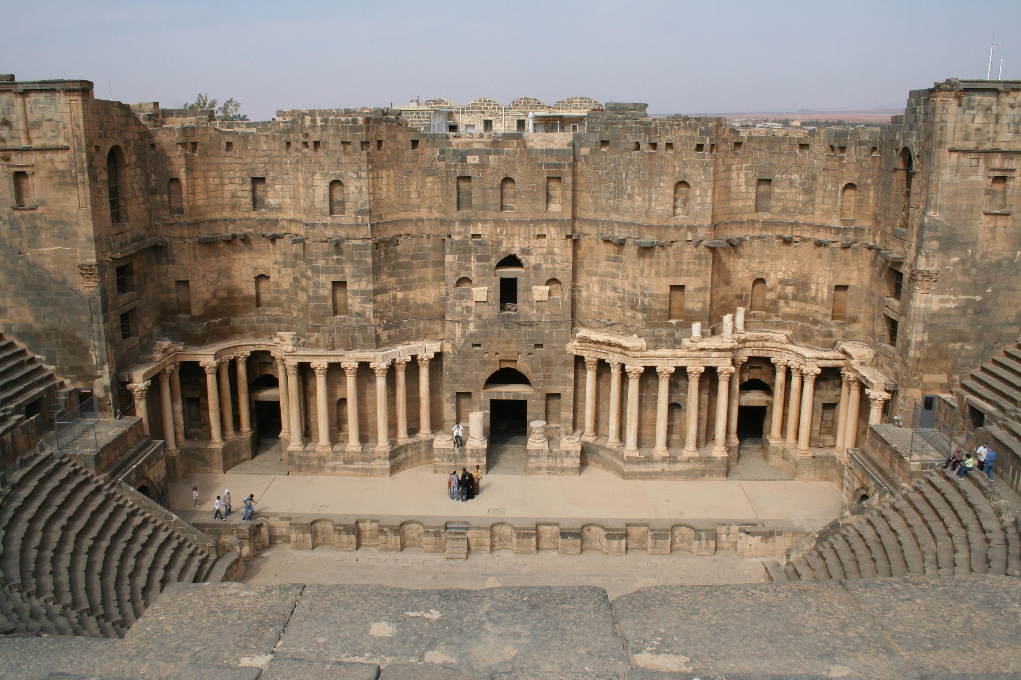 File:Roman Theatre in Bosra.jpg