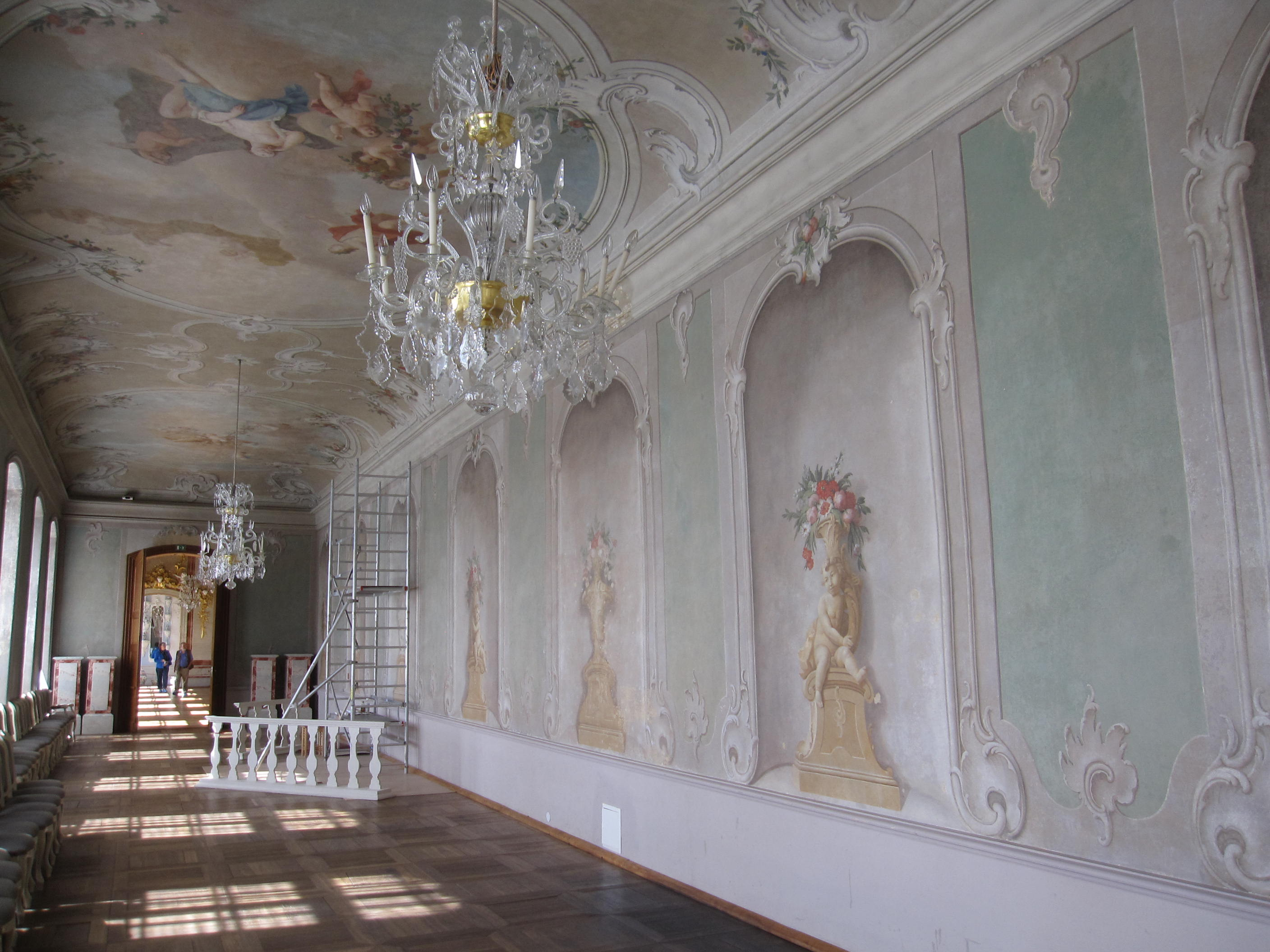File Rundale Palace Interior Decorated Walls Jpg