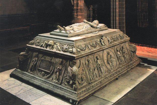 Sepulcro del príncipe Juan en el Real Monasterio de Santo Tomás en Ávila.