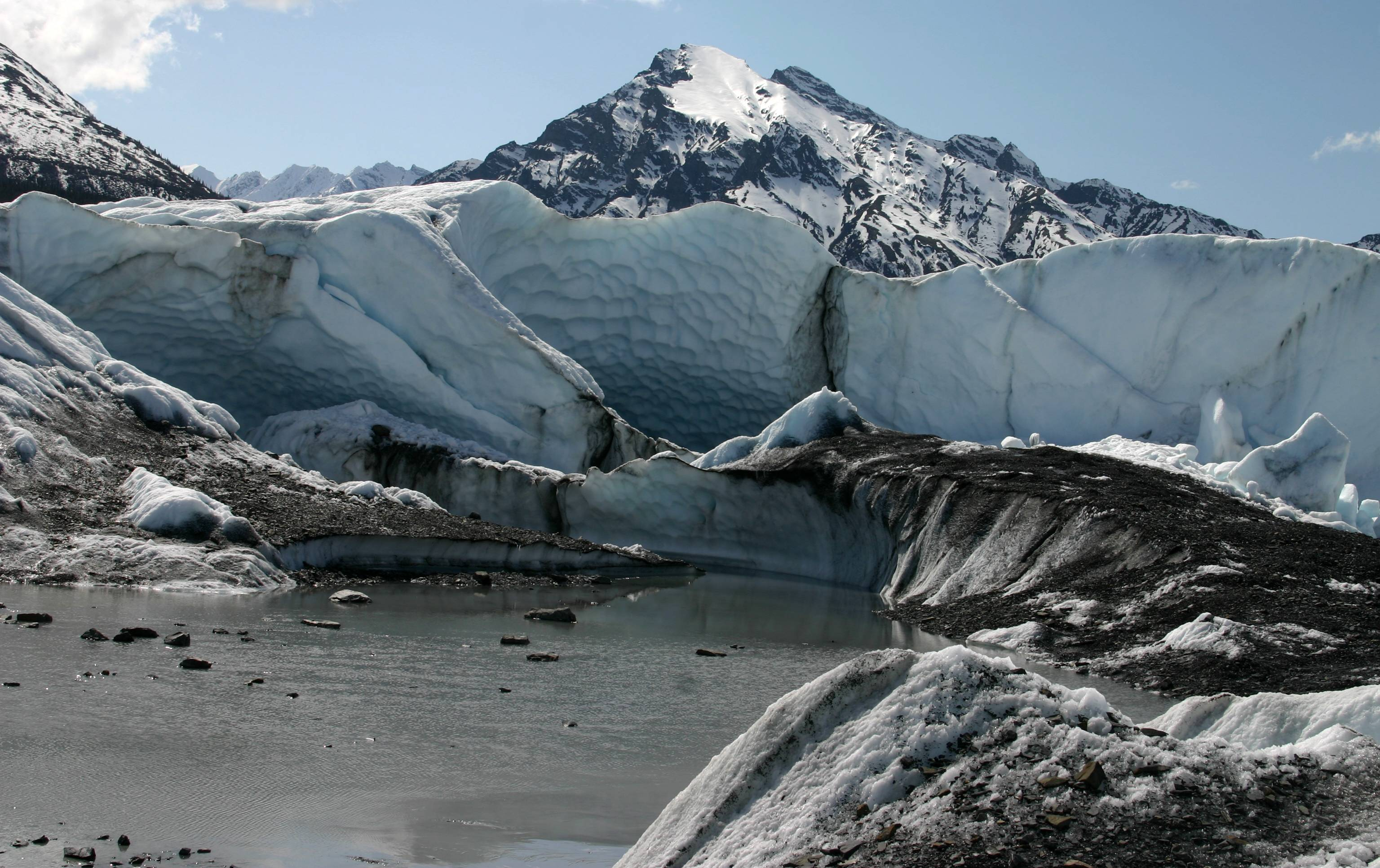 Snout of Matanuska Glacier