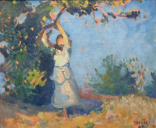Thorma Picking Apples 1936