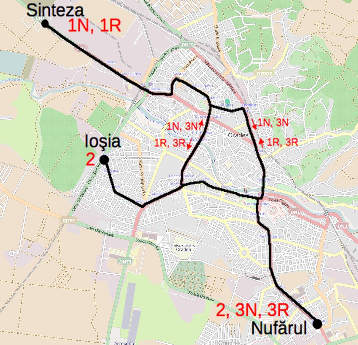 FileTram Map Of Oradeapng Wikimedia Commons - Oradea map