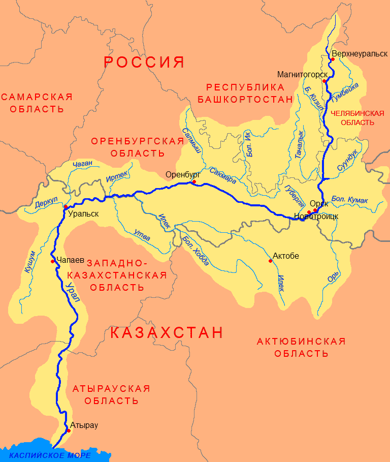 Description ural river basin