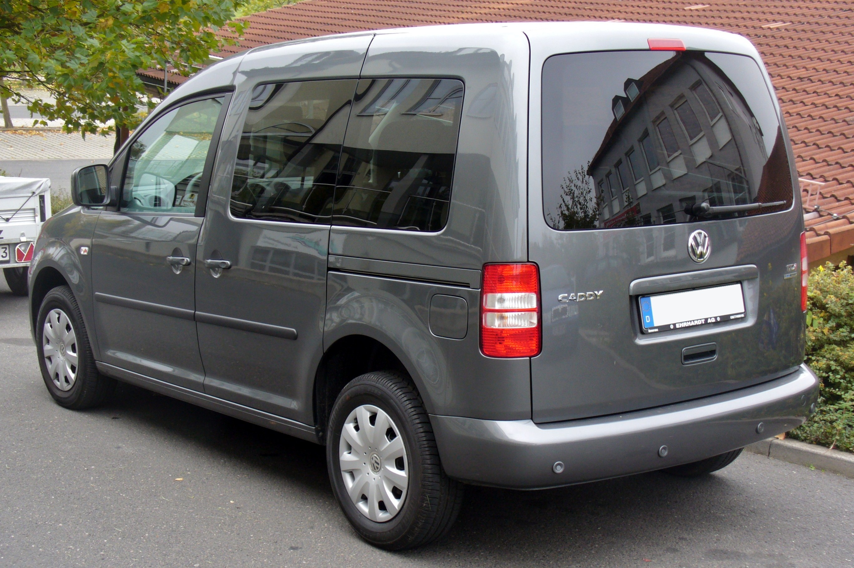 file vw caddy facelift 1 6 tdi bluemotion heck jpg wikimedia commons. Black Bedroom Furniture Sets. Home Design Ideas