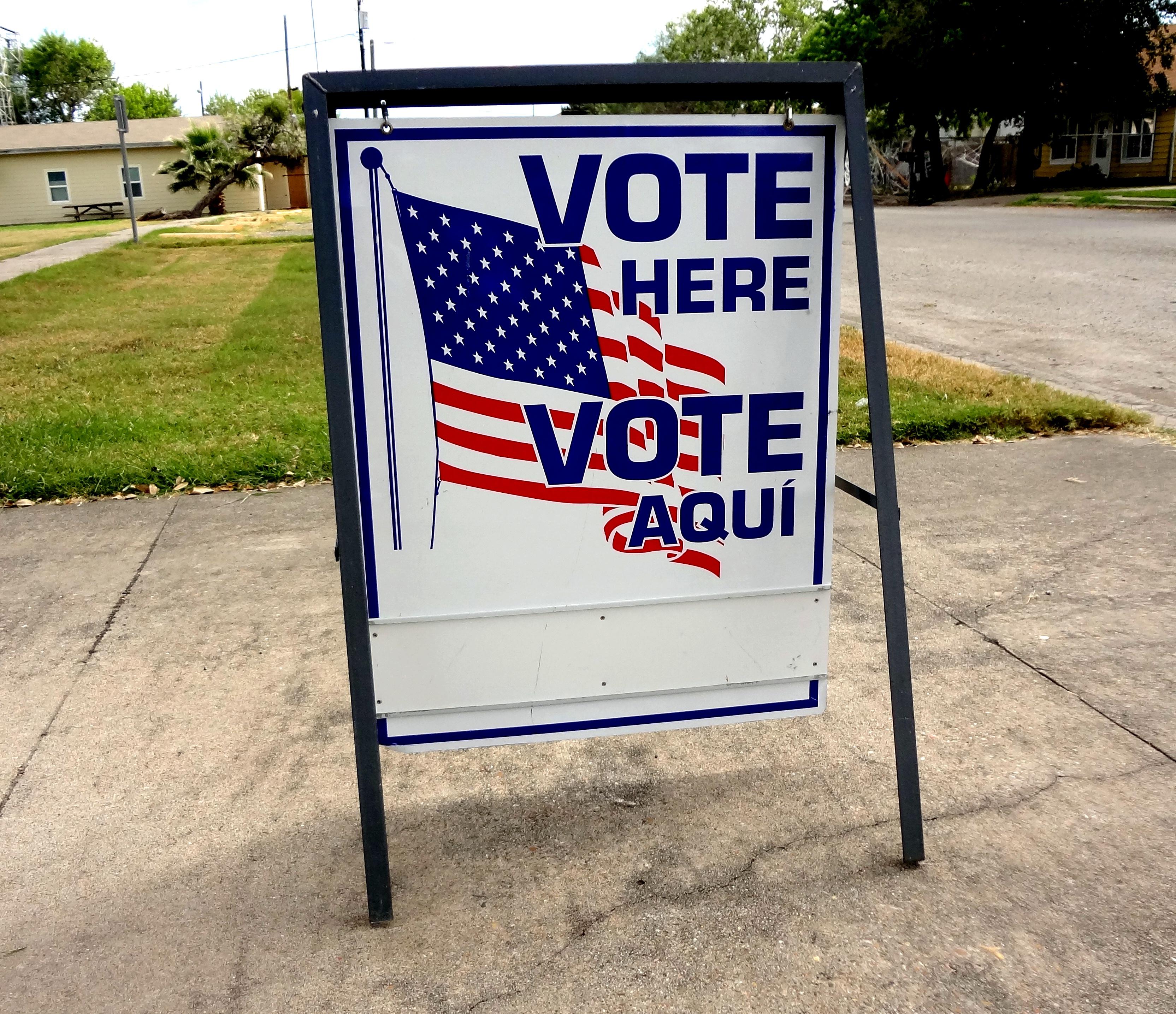 Voting Sign, Taft Texas, 2016