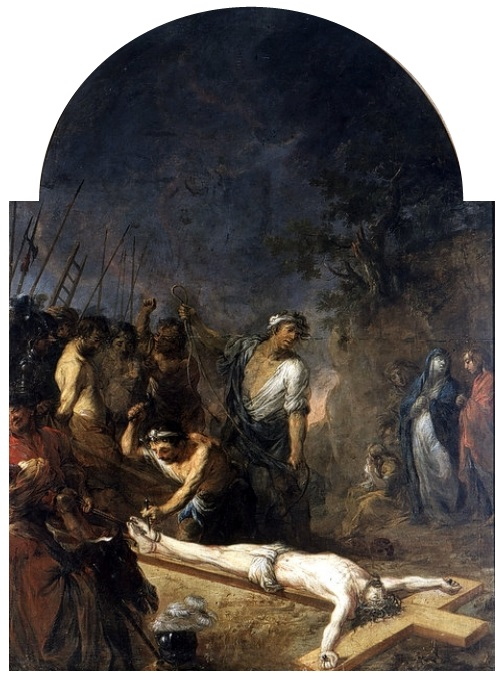 File:Willmann Jesus being nailed to the cross.jpg - Wikimedia Commons