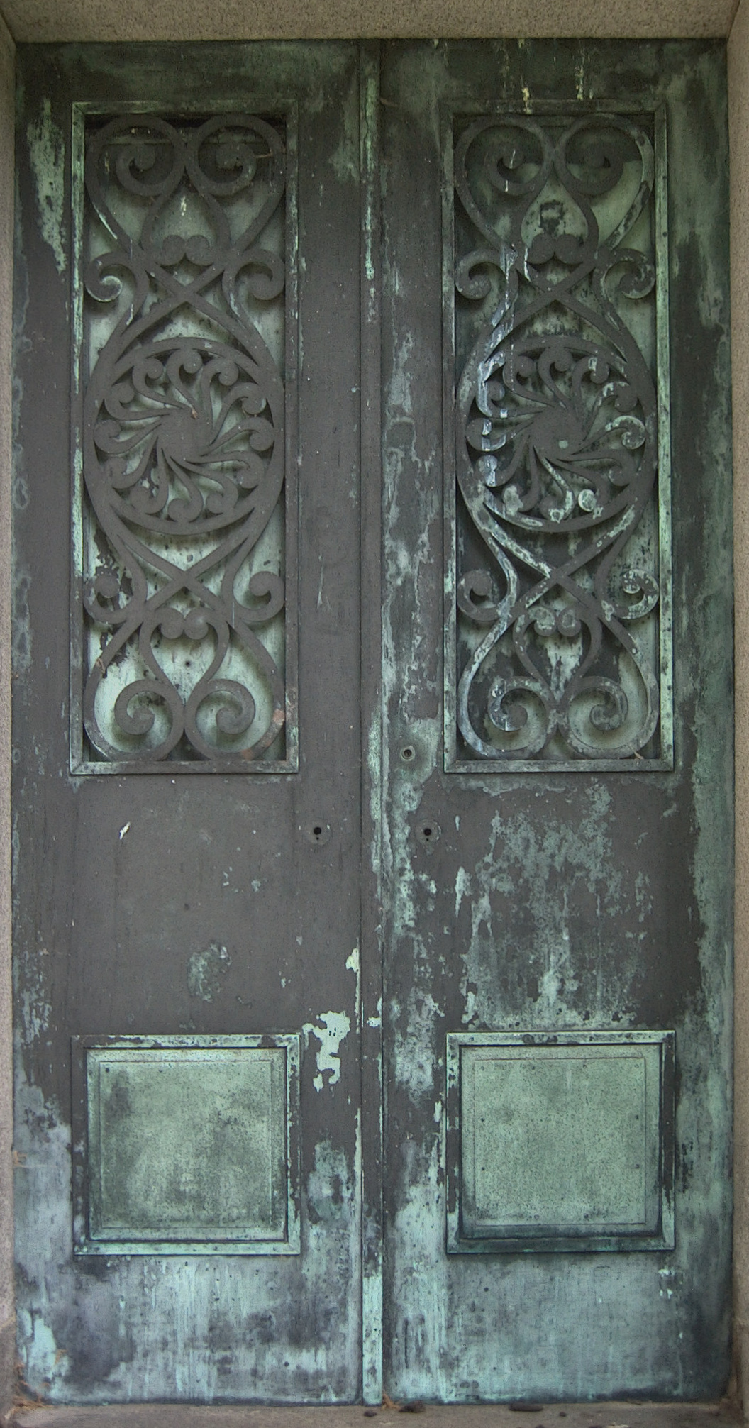 The bronze doors are cast in an interesting pattern. & Ionic | Pittsburgh Cemeteries Pezcame.Com