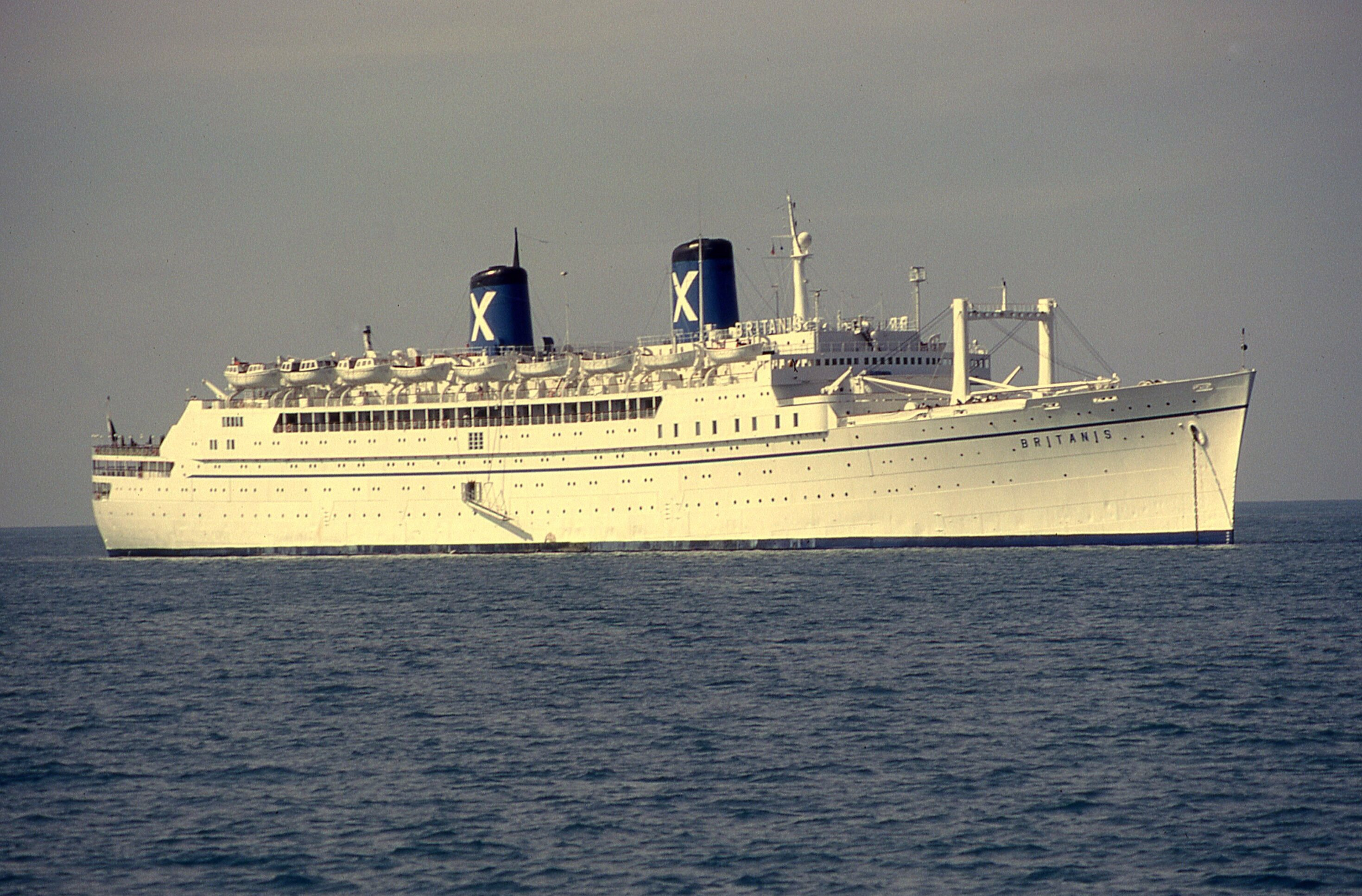 The Cruise Ship Britanis Anchored Off Key West On May - Cruise ships key west