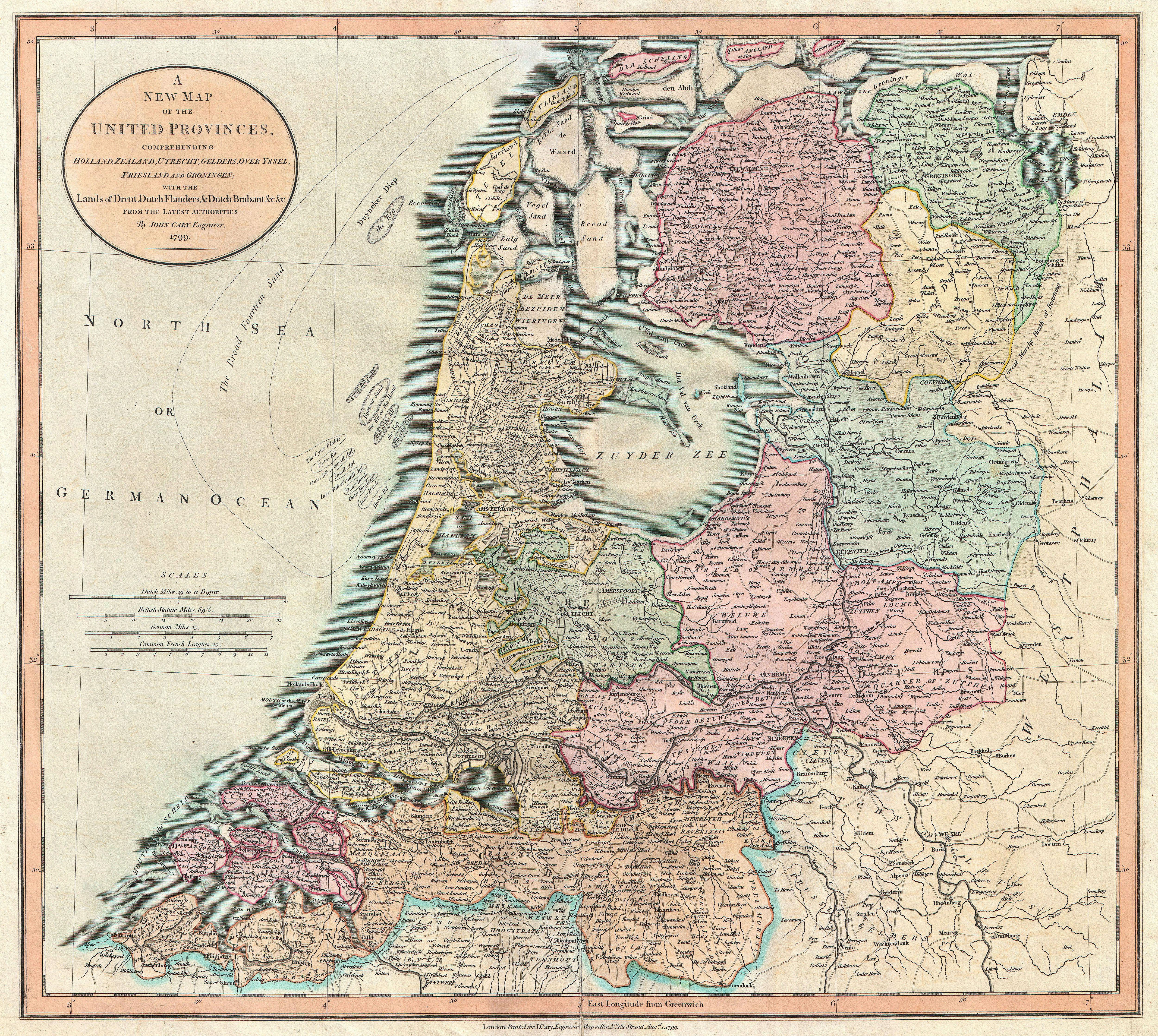 File1799 Cary Map of the Netherlands  Geographicus  Netherlands