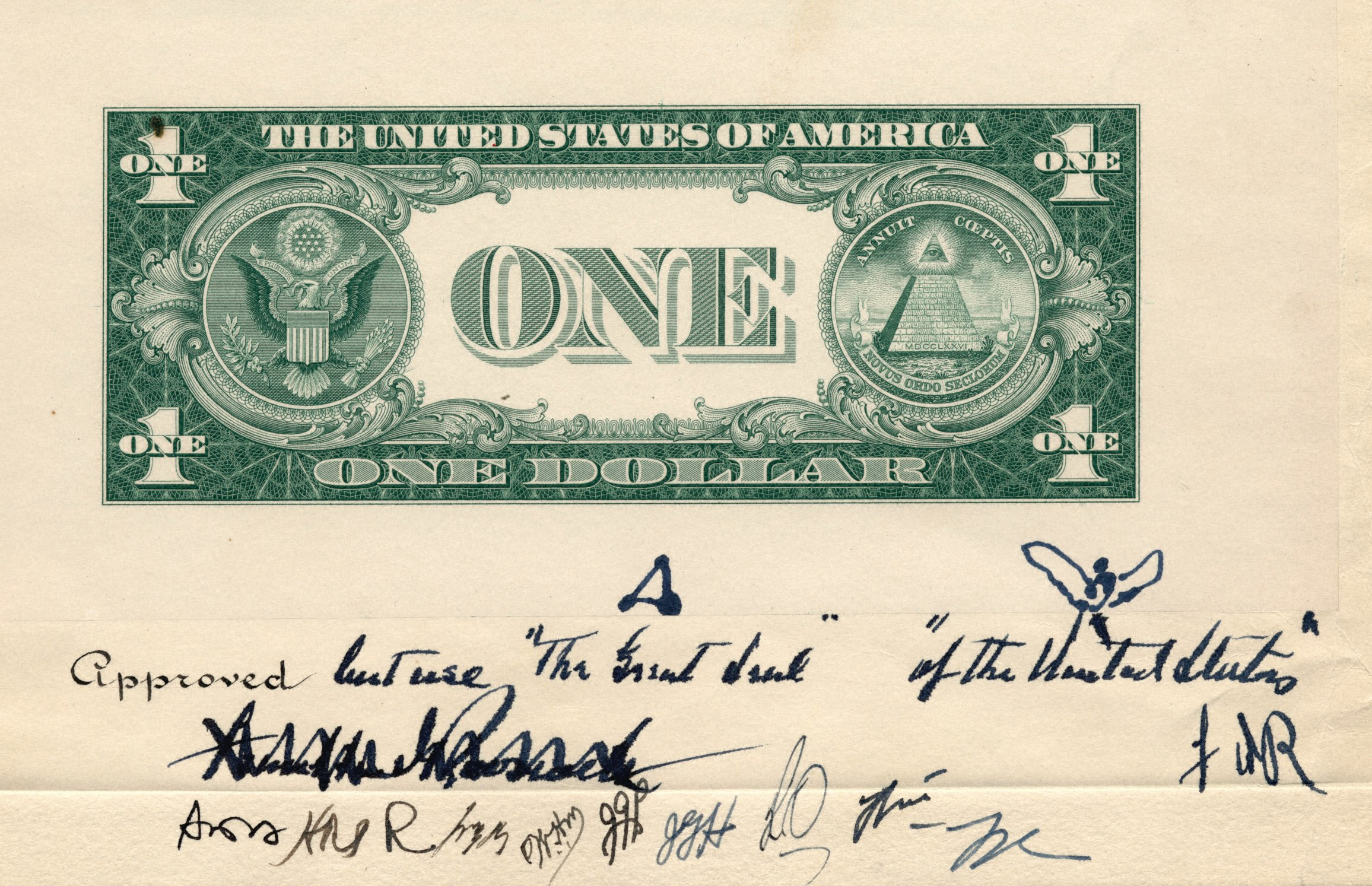 Http En Wikipedia Org Wiki File 1935 Dollar Bill Back Early Design Jpg
