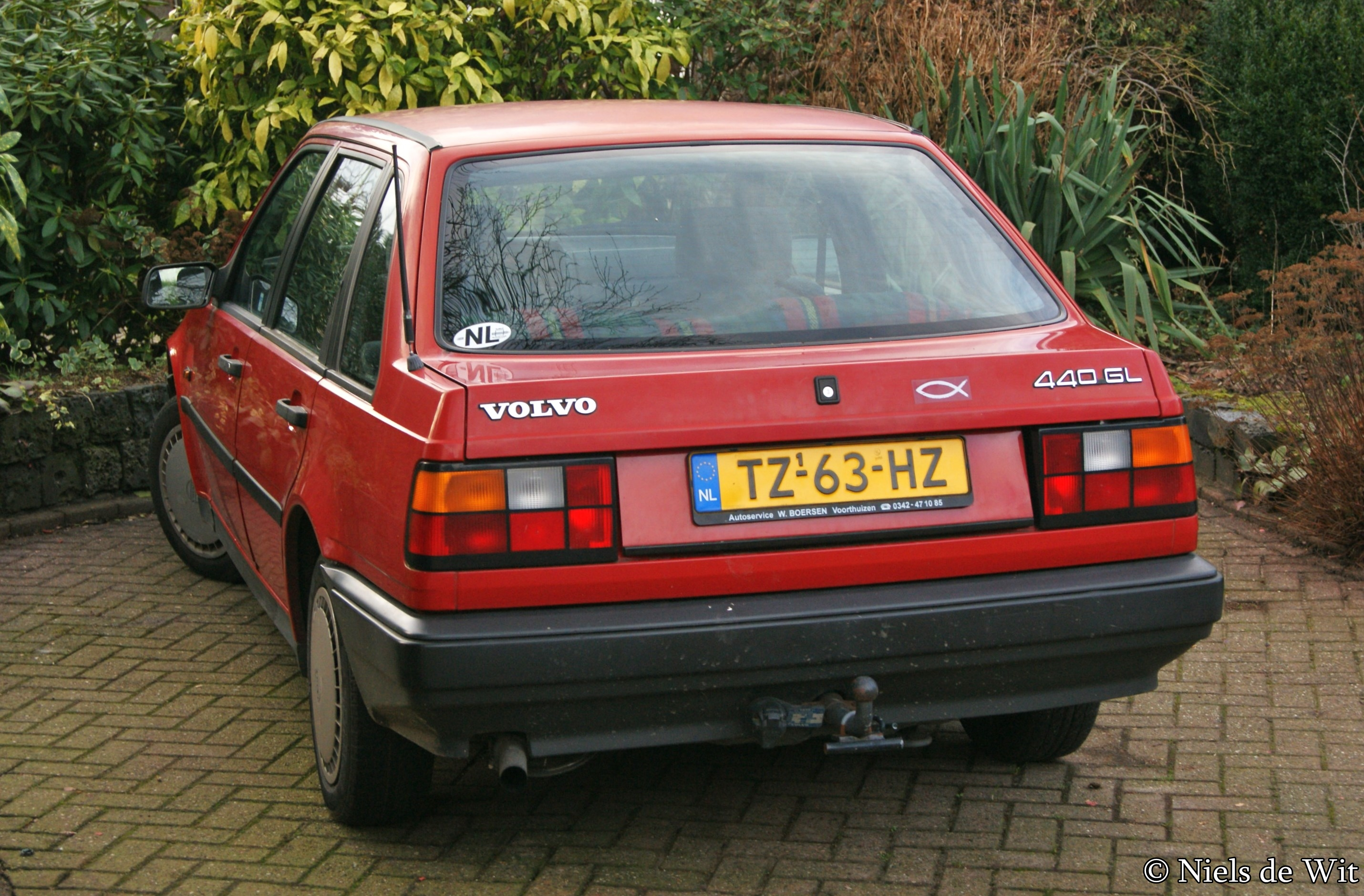 Pre facelift Volvo 440 GL (the Netherlands)