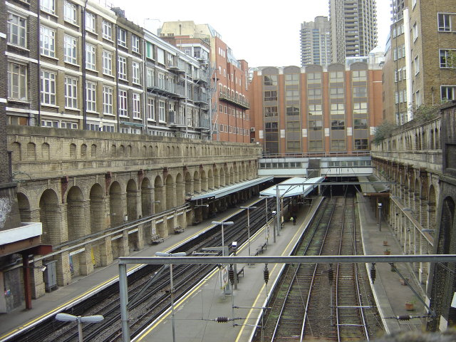 A peek over the bridge - Barbican Station - geograph.org.uk - 721733