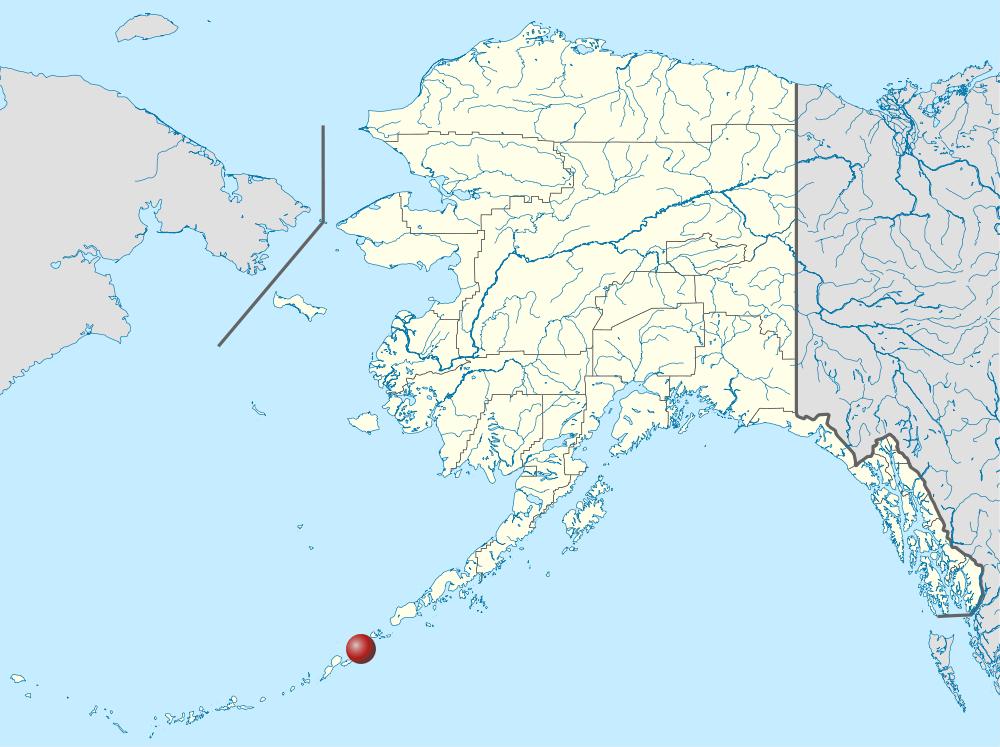 Akutan on Alaska location map