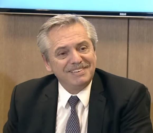 Alberto Fernández habló con la prensa