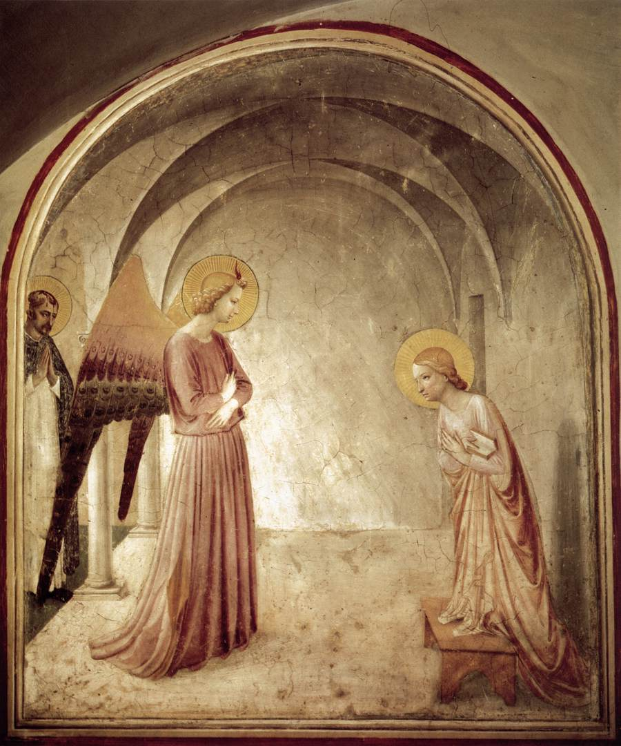 File:Annunciation by Fra Angelico (San Marco Cell 3).jpg - Wikimedia ...