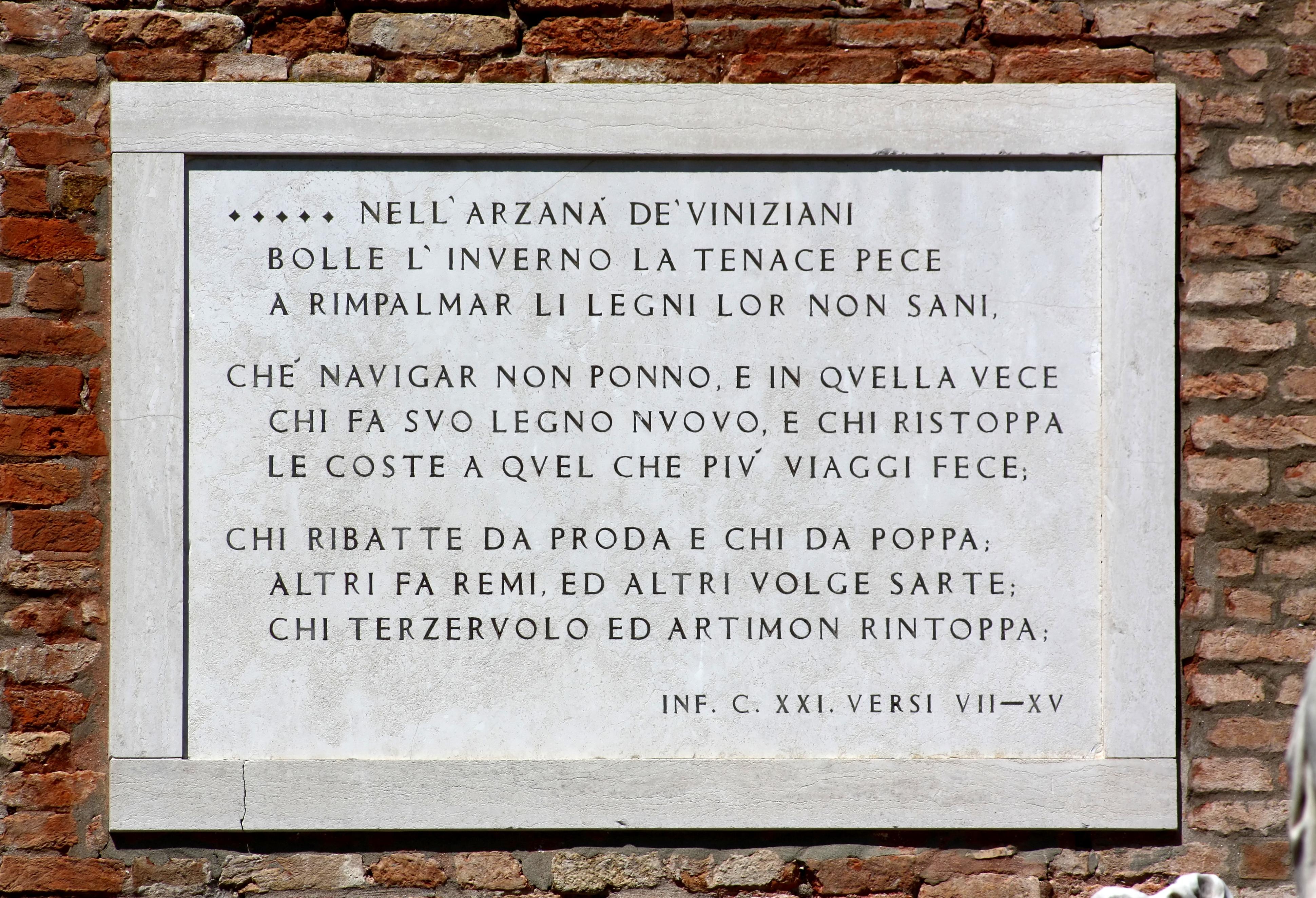 File Arsenale Dantes Inferno Venise Jpg Wikimedia