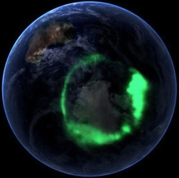 Aurora Australis from Space