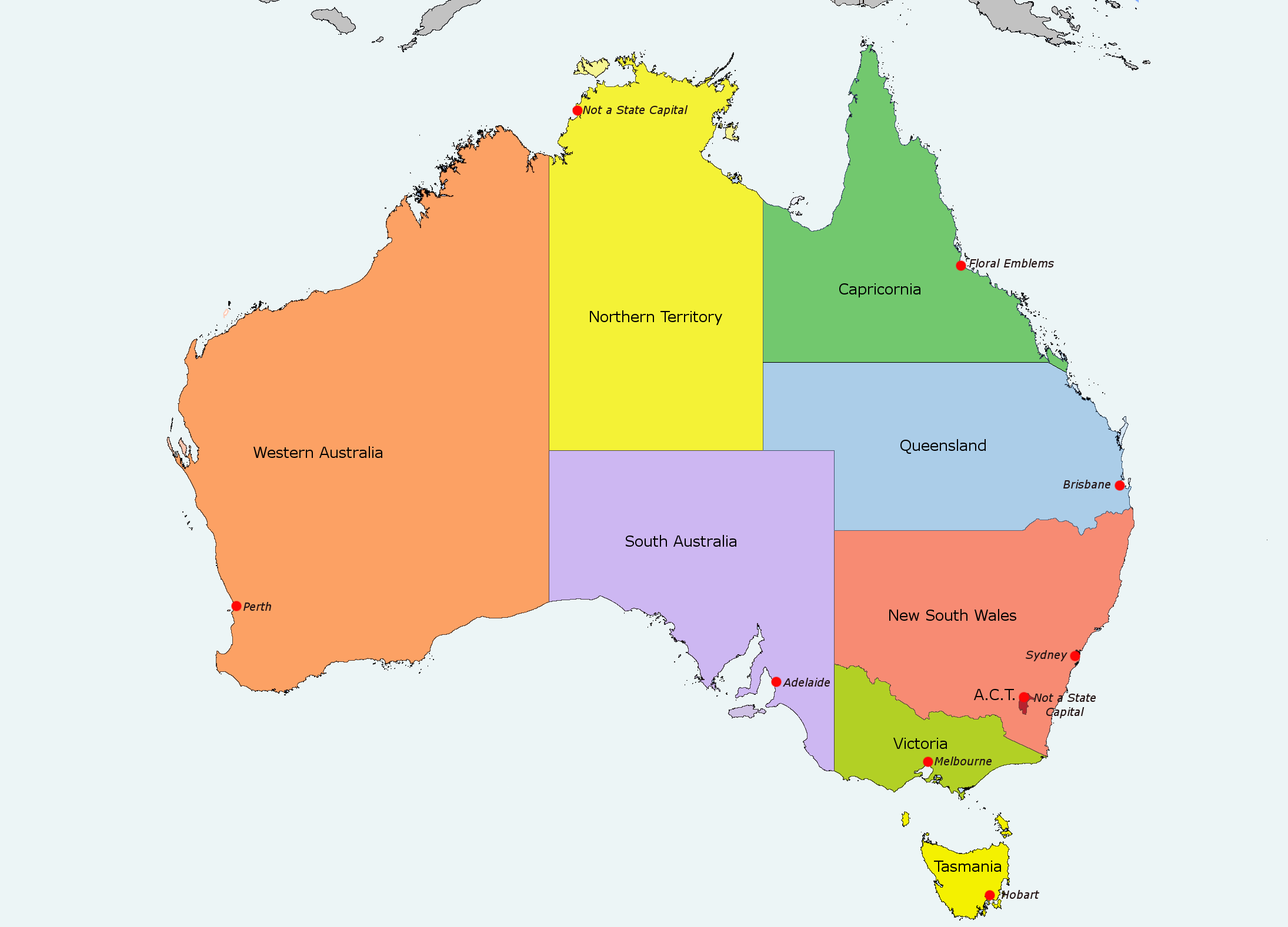 Maps Update 800670 Map of Australian Cities and Towns Cities – Map of Australlia