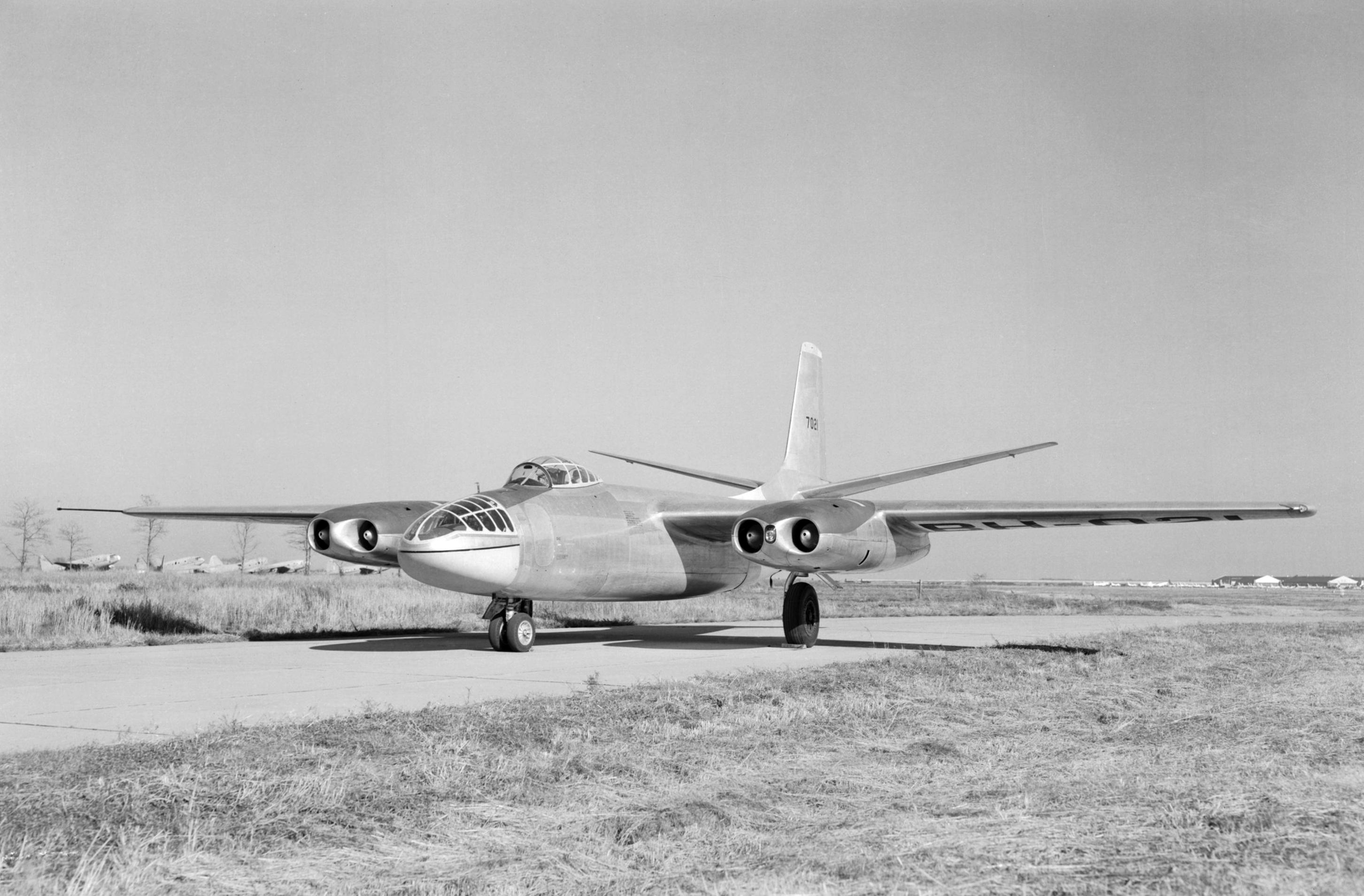 B-45A_Tornado_at_NACA_Langley_in_1949.jp