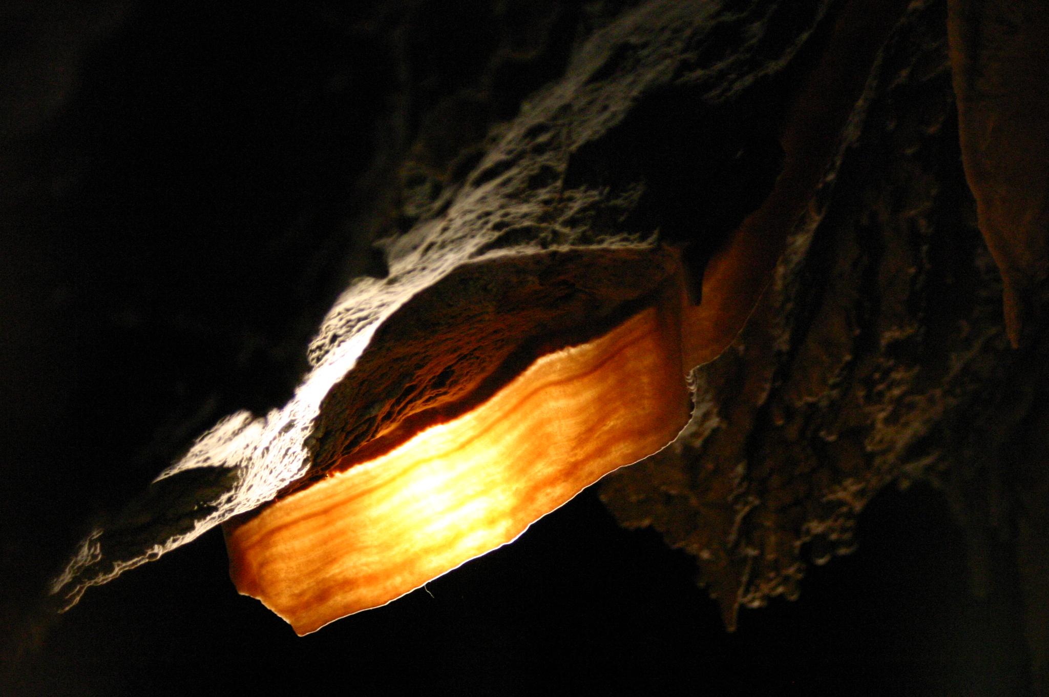 File Back Illuminated Cave Bacon Formation Flowstone Jpg