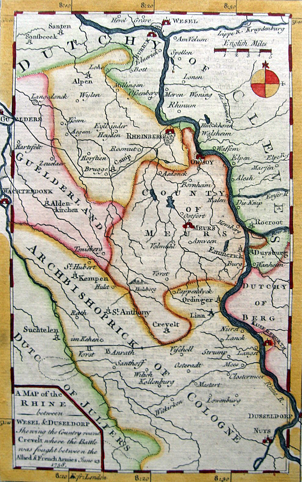 Map Of The Area File:Battle of Krefeld   Map of the area printed in The  Map Of The Area