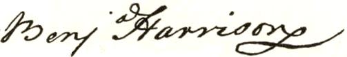 Benjamin Harrison V Signature