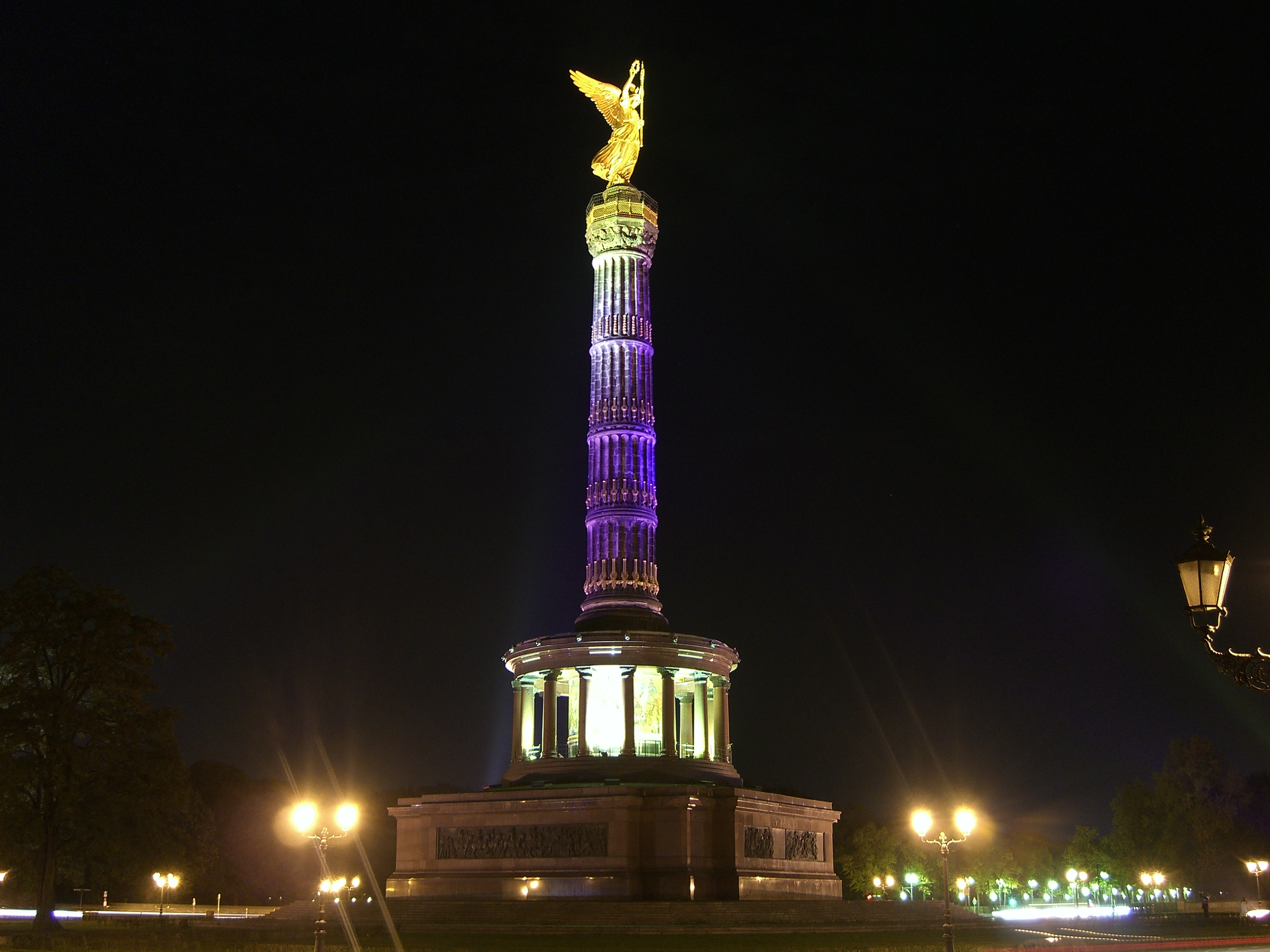 Berlin Siegessaeule Festival Lights.JPG