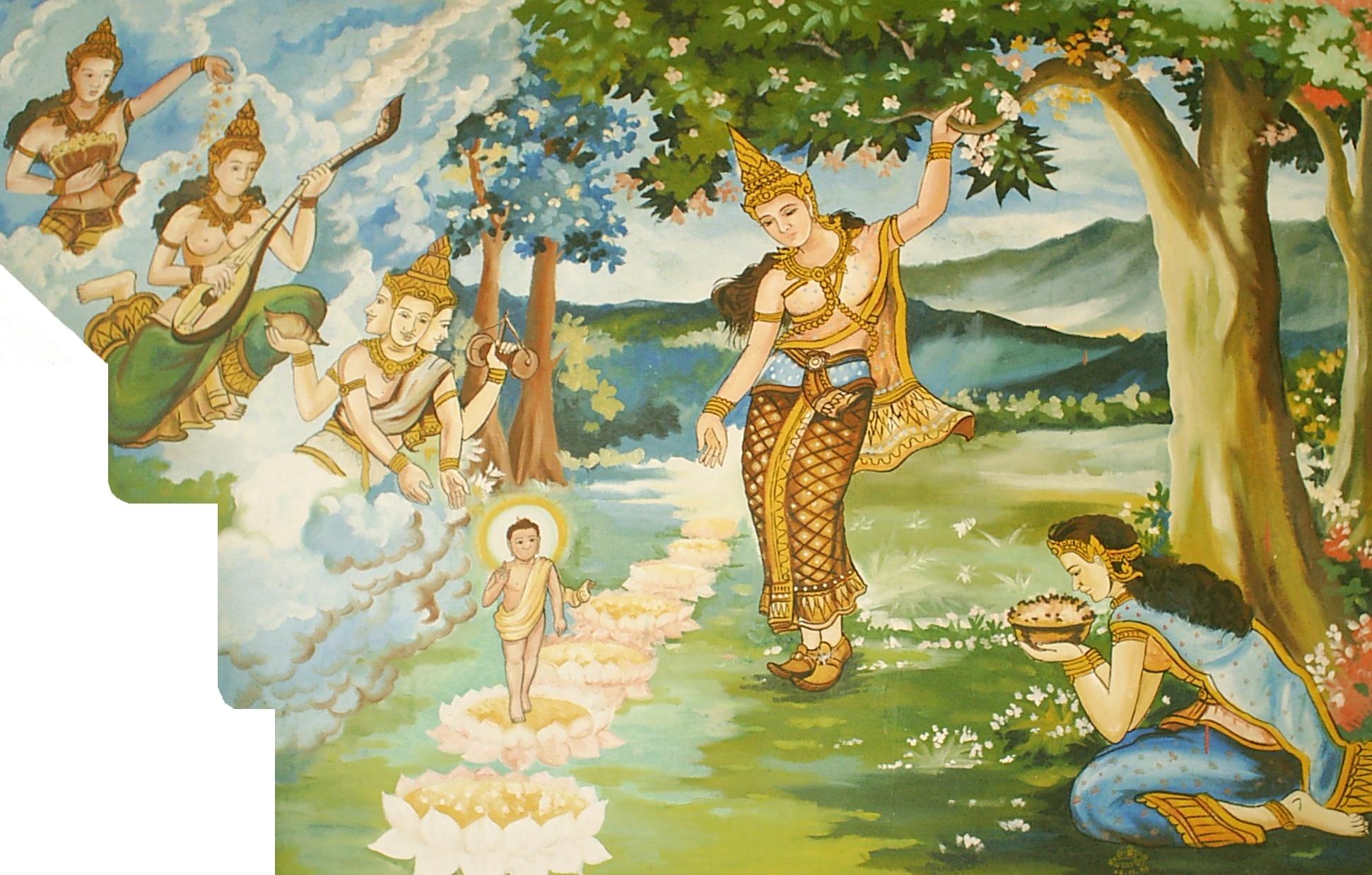 Конен, рождение будды открытка
