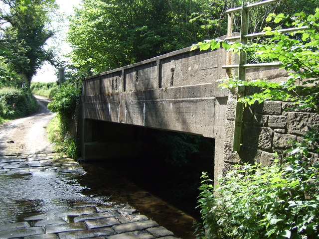 Bridge over the Langley Beck - geograph.org.uk - 459190