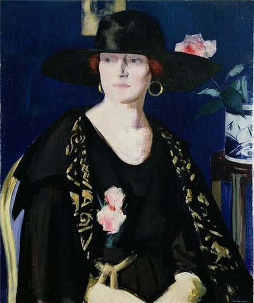 File:Cadell A Lady in Black and Gold The Embroidered Cloak.jpg