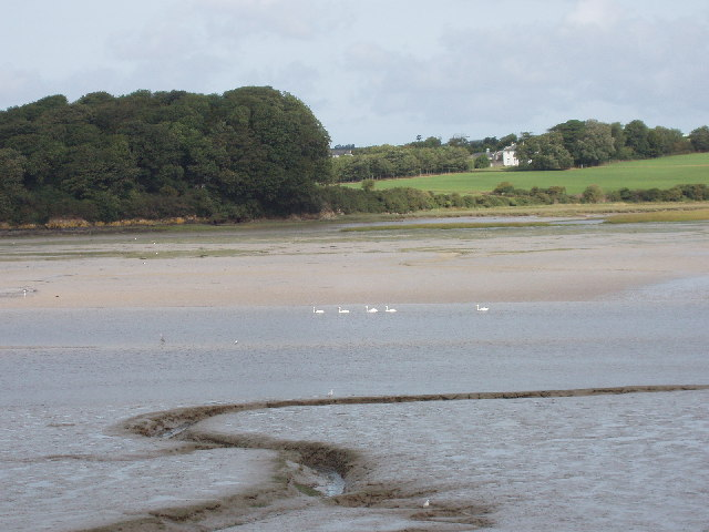 Camel estuary and mudflats with view to Dinham - geograph.org.uk - 50991