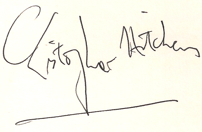Christopher Hitchens Signature