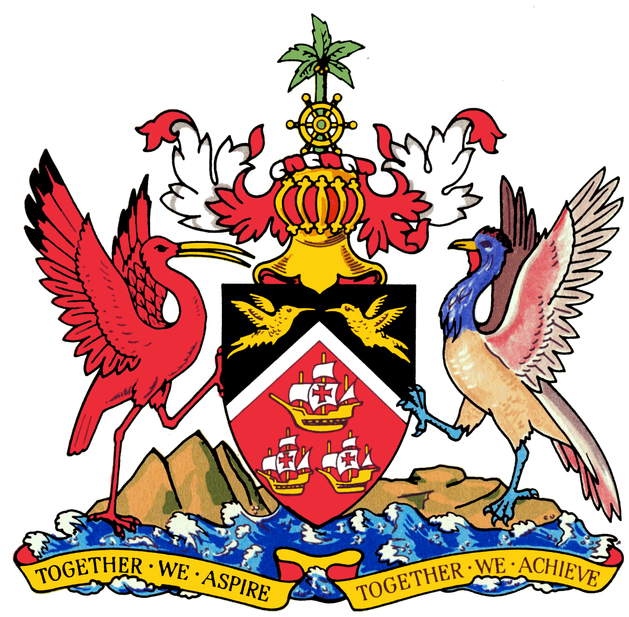 File Coat of arms of Trinidad and Tobago in addition Army Cadet Force also National Emblems Of Trinidad And Tobago moreover Trinidad And Tobago likewise Trinidad and Tobago Defence Force. on national motto of trinidad and tobago
