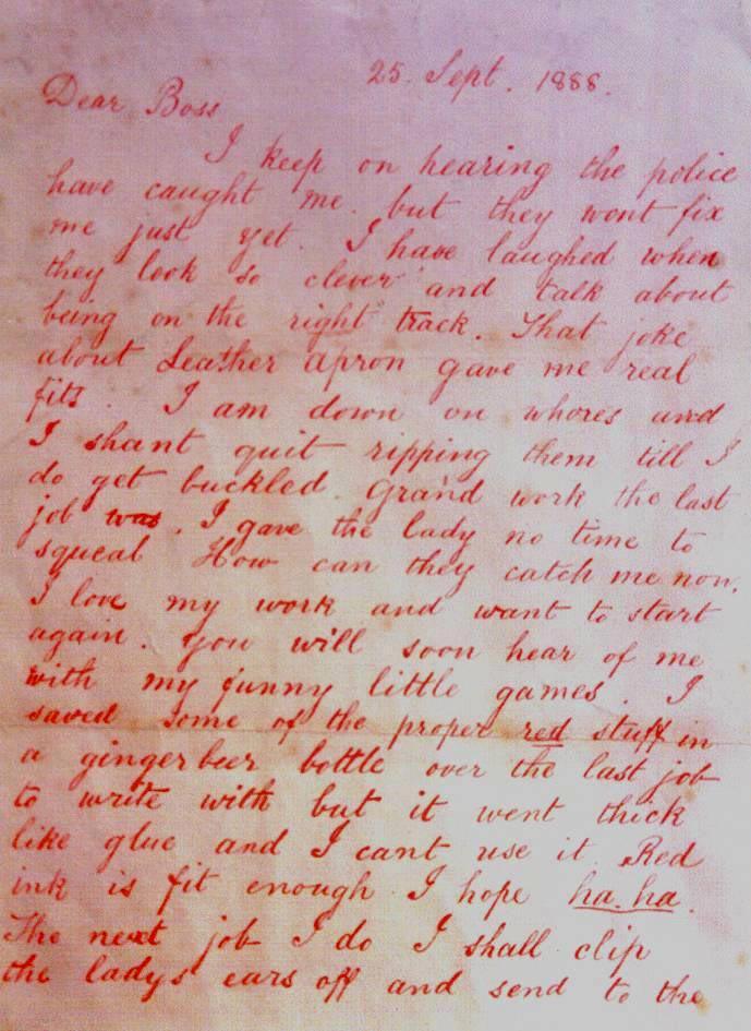 jack the ripper letters DearBossletterJacktheRipper
