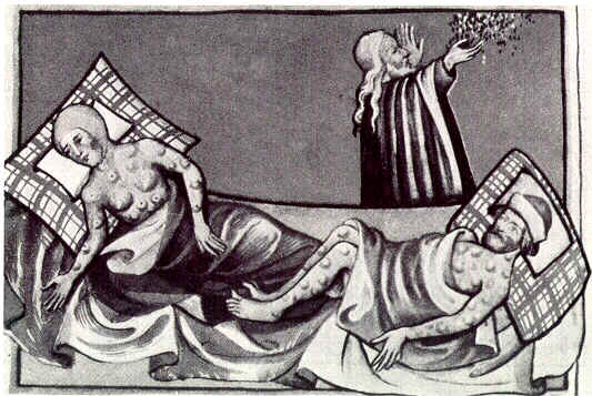 Egyptian plague of boils in the Toggenburg Bible (black and white).jpg
