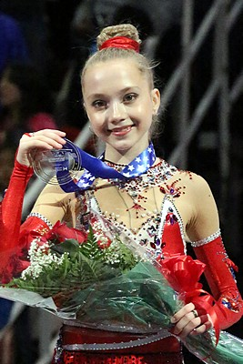 Elena Radionova scored 194.29 points at the 2014 Junior Worlds which was a World junior record at the time. She scored three World junior records during her junior career.
