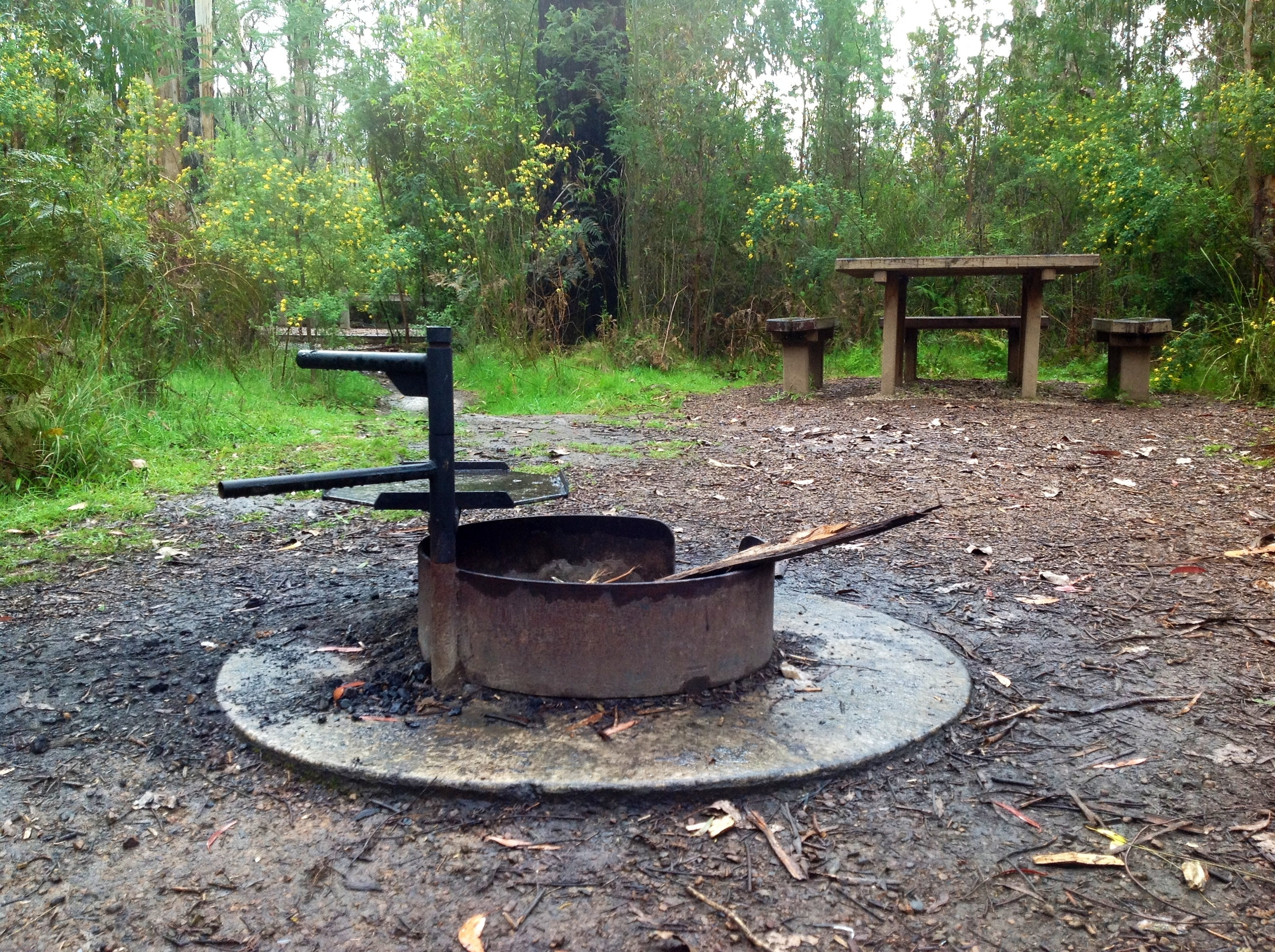 File:Fire pit and cooking plate provided. Gums campsite ...