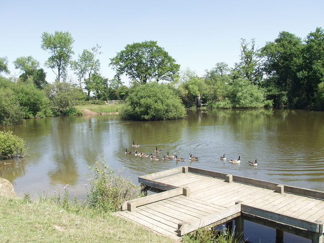 Description Fishing pond on Middleton Lane - geograph.org.uk - 204065 ...