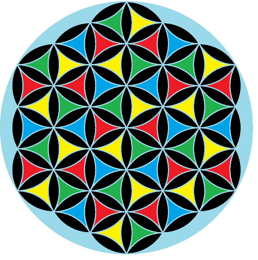 Coloring Flower Of Life : Flower of life color galleryhip the hippest pics