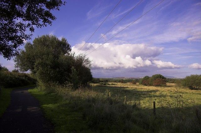 Footpath alongside Afon Lliw