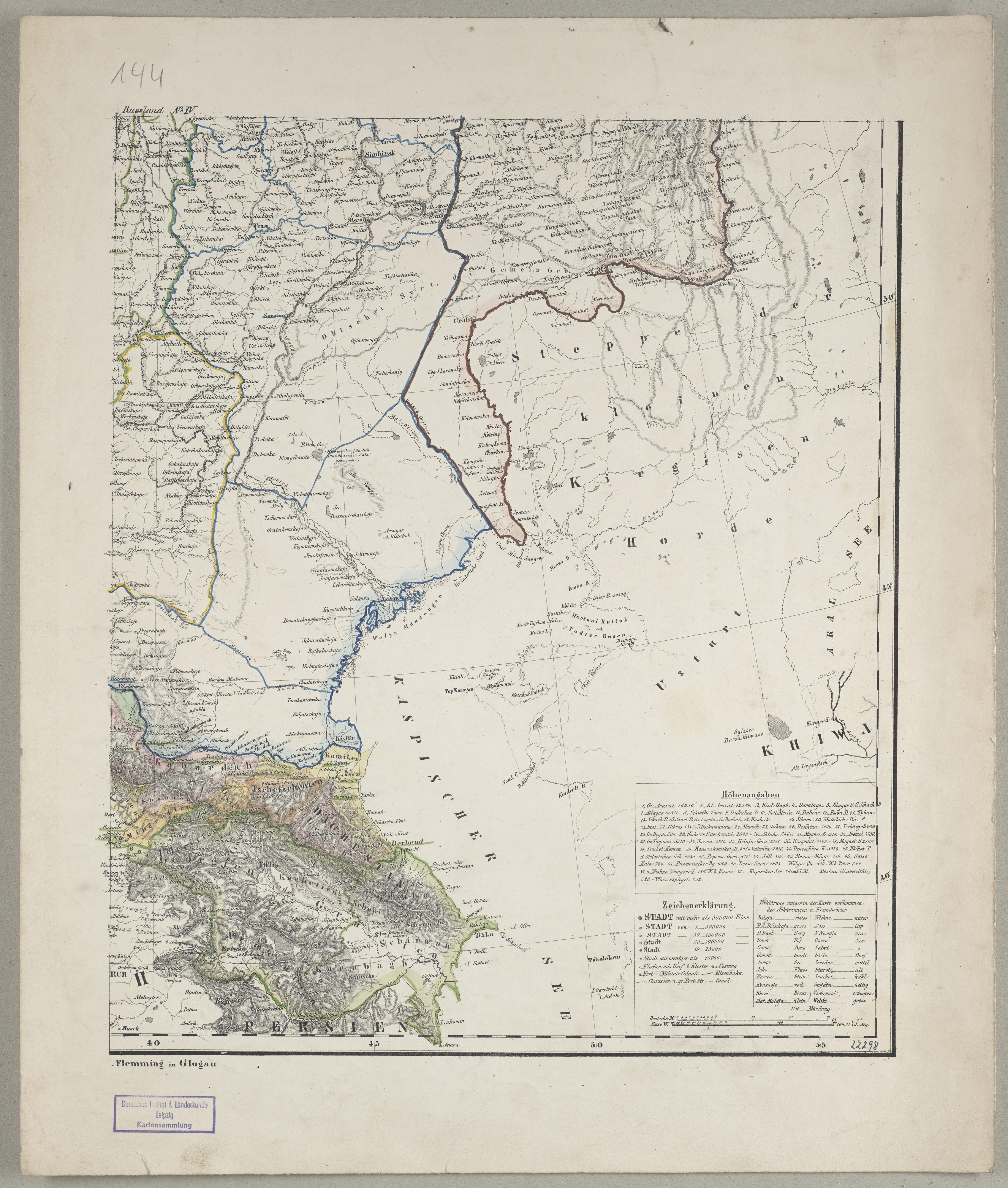 File General Karte Vom Europaischen Russland Und Den Kaukasischen
