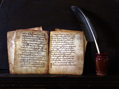 In the riojan monastery of San Millan de Suso there were found the first written records of both basque and Spanish languages (Glosas Emilianenses). Glosas.02.jpg