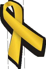 2 CHILDHOOD GOLD CANCER RIBBON