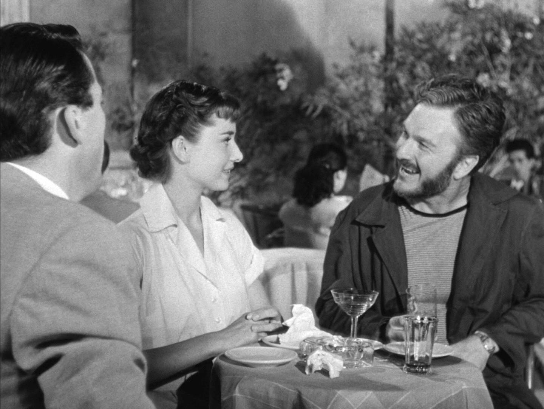 Gregory Peck, Audrey Hepburn and Eddie Albert in Roman Holiday trailer.jpg