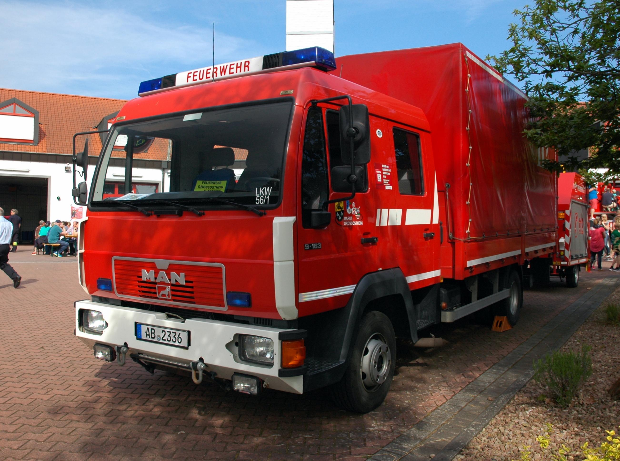 Filegroßostheim Feuerwehr Man 9 163 Friederichs Ab 2336
