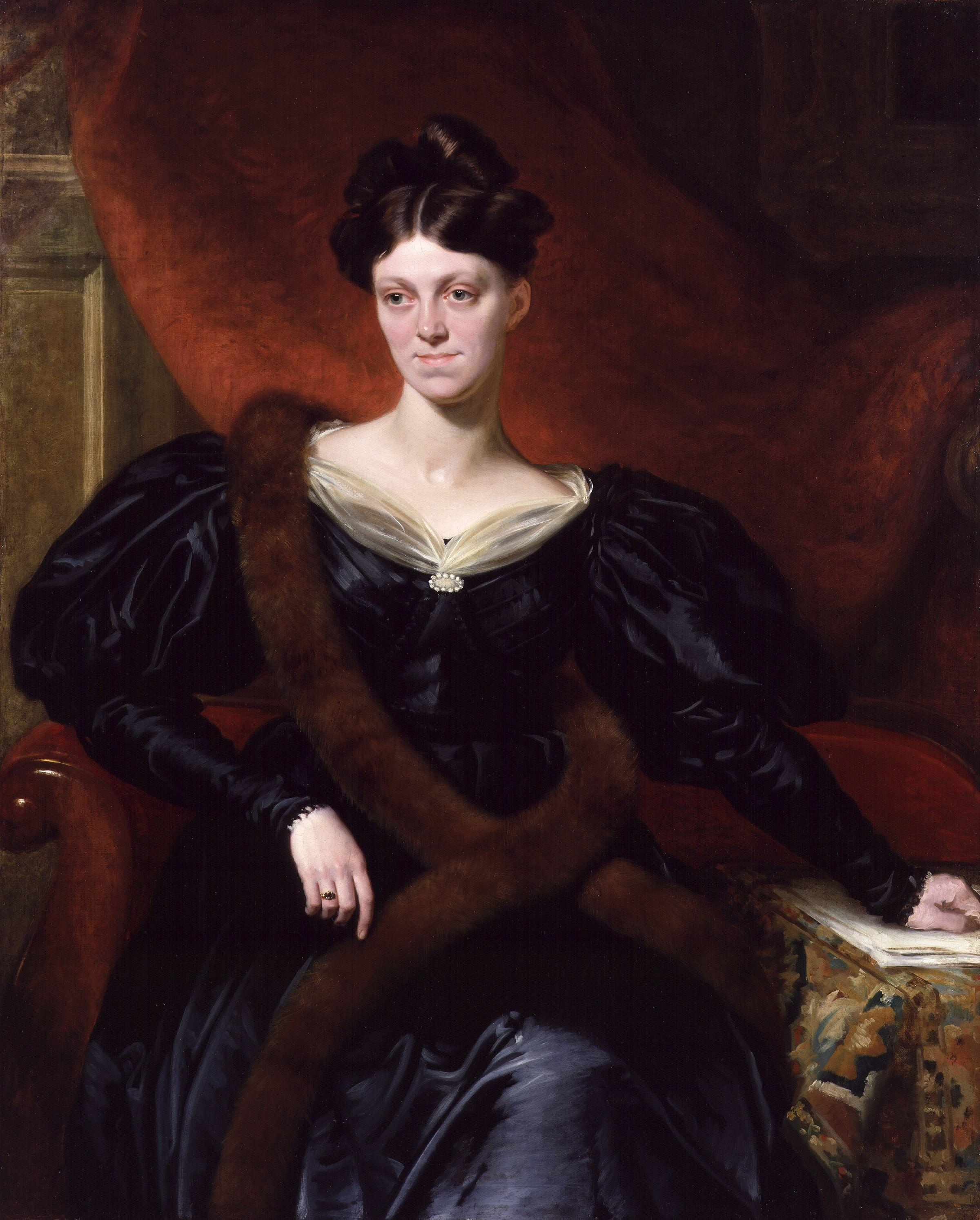 Harriet Martineau by [[Richard Evans (portrait painter)|Richard Evans]]<br /> (1834 or before)